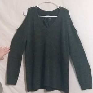 Torrid Hunter Green off the shoulder Sweater Size1